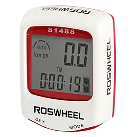 ROSWHEEL LCD Waterproof 14 Functions Bike Computer Bicycle Speedometer (Assorted Colors)