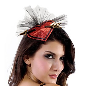 Lovely Heart-shaped Polyester Women's Fascinators