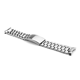 Unisex Stainless Steel Watch Band 20MM (Silver)