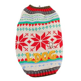 Snowflake Pattern Color Stripe Sweater for Dogs (XS-XL)