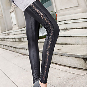 Slim Lace Leggings(Length:93CM,Waist:65-95CM,Hip:95-108CM,Thigh:55-65CM)