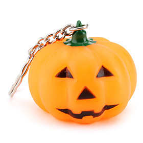 Pumpkin Keychain with Light Effect