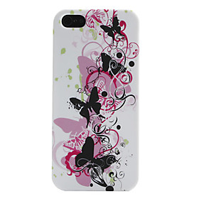 Butterfly and Flower Pattern Soft Case for iPhone 5