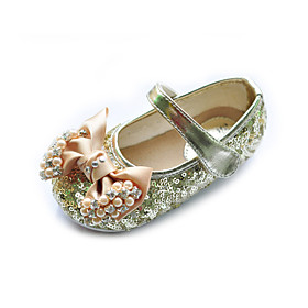 Kids' Leatherette Flat Heel Closed Toe With Satin Bowknot/Sequin Party/Evening Shoes (More Colors)