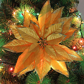 Christmas Ornaments Silver Christmas Flower