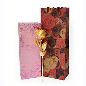 24K Gold Foil Rose Gift for Valentine's Day, Wedding Anniversary, Birthday and Christmas (Gift Box,