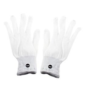 6-Mode Multicolored LED Light Rave Gloves (White, Pair)