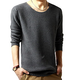 Men's Round Collar Knit Sweater