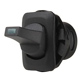 ST0403 Car Vehicle Rocker Switch with Green Indicating Light (Black, 12V/10A)