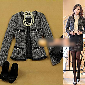 Women's Slim Lace Tweed Jacket