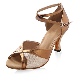 Sparkling Glitter And Leatherette With Buckle Latin/ Salsa Dance Shoes (More Colors)