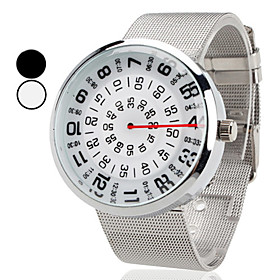 Unisex New Design Steel Analog Quartz Wrist Watch (Silver)