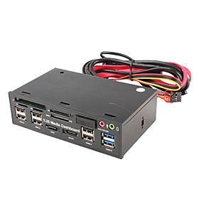 5.25 Multi-function Front Panel I/O Ports PC Media Dashboard
