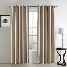 Classic Jacquard Stripe Blackout Curtains (Two Panels)