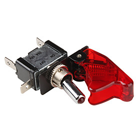 Flip Cover Nitrous Arming Switch with Red LED Indicator (Vehicle DIY)