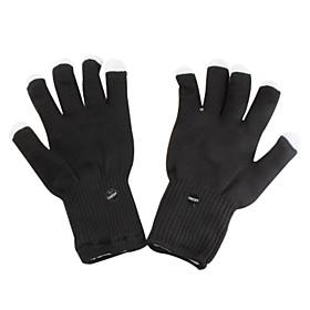 6-Mode Multicolored LED Light Knit Rave Gloves (Black, Pair)