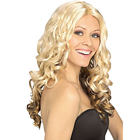 Gradient Blond Masquerade Princess Holiday Curly Wig