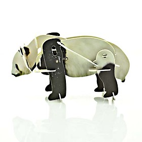Panda Movable 3D puzzle Plastic Wild Animal Toy