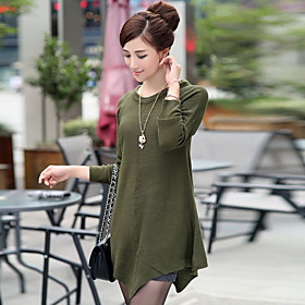 Women's Loose Round Collar Knit Sweater