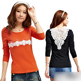 Women's Long Sleeve Lace T-shirt