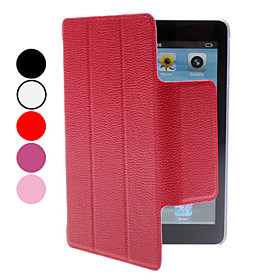 Lichee Pattern PU Leather Case with Stand for iPad Mini (Assorted Colors)
