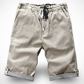 Men's Thin Linen Cotton Casual Shorts
