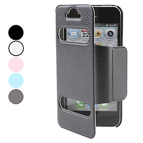 PU Leather Case with Stand for iPhone 5 (Assorted Colors)