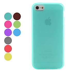 Matting Style Soft Case for iPhone 5 (Assorted Colors)