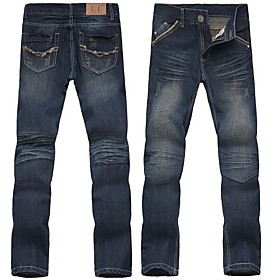 Men's Cotton Straight Jeans Pants