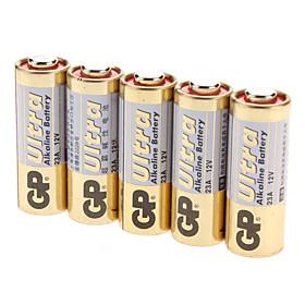 GP 23A Alkaline Battery Pack (12V, 5-Pack)