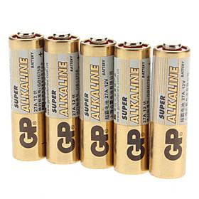 GP 27A Alkaline Battery Pack (12V, 5-Pack)