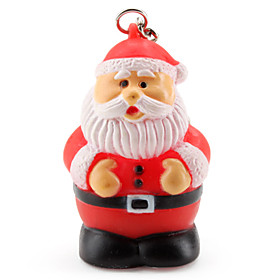 Christmas Santa Claus Keychain with Light Effect