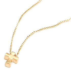 Rose Gold Color Plated Cross Alloy Necklace