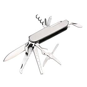 3.5 11-in-1 Multifunction Folding Knife Wine Corkscrew Bottle Opener Saw Scissor