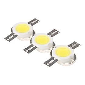 DIY 10W 800-900LM 6000-6500K Natural White Light Round Integrated LED Module (9-11V, 3-Pack)