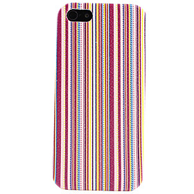 Stripe Pattern Faux Leather Coated Hard Case for iPhone 5