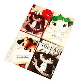 Cartoon Cats Pattern Notebook(Random Colors)