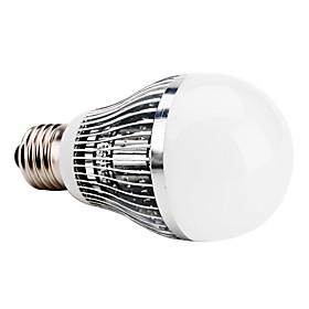 E27 7W 650-750LM 6000-6500K Natural White Light LED Ball Bulb (85-265V)