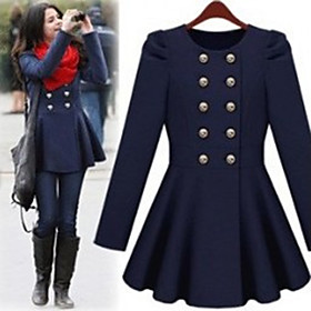 Lady Double-breasted Swing Coat