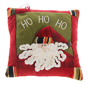 Christmas Ornaments Plush Santa Claus Hold Pillow
