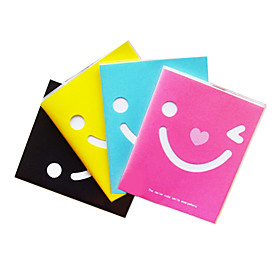 Lovely Smiling Face Plastic Surface Notebook