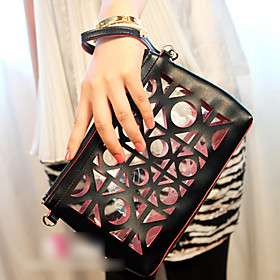 Cut Out Leather Clutch(22 15.5 2CM)