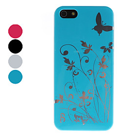 Butterfly and Flower Pattern Hard Case for iPhone 5 (Assorted Colors)