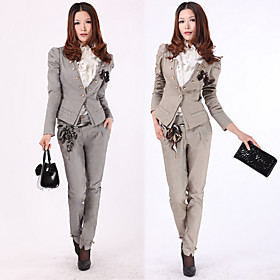 Casual Short Jacket Pants Suit