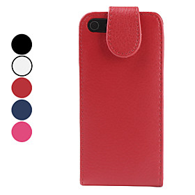 Protective Folding PU Leather Case for iPhone 5 (Assorted Colors)