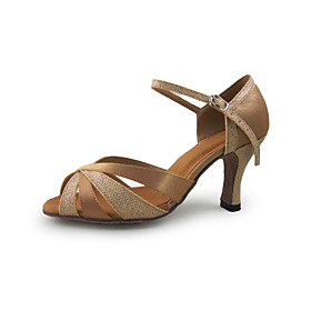 Women's Satin Ankle Strap Latin / Ballroom Dance Shoes With Buckle (More Colors)