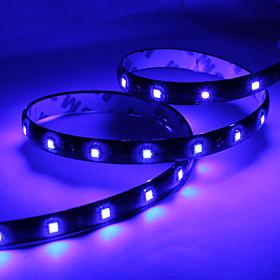 60CM 30x1210 SMD LED Blue Light Strip Lamp for Car (DC 12V)