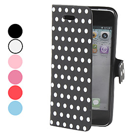 Dot Pattern PU Leather Case for iPhone 5 (Assorted Colors)