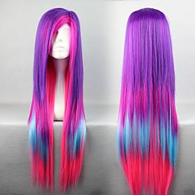 Fashion Mixed Colr 80cm Punk Lolita Wig
