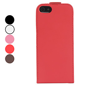 Folding PU Leather Frosted Matte Case for iPhone 5 (Assorted Colors)